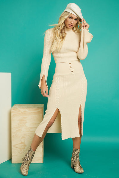 Double Entendre Midi Skirt