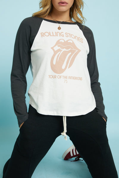 Rolling Stones Tour of the Americas '75 Tour Raglan by Daydreamer