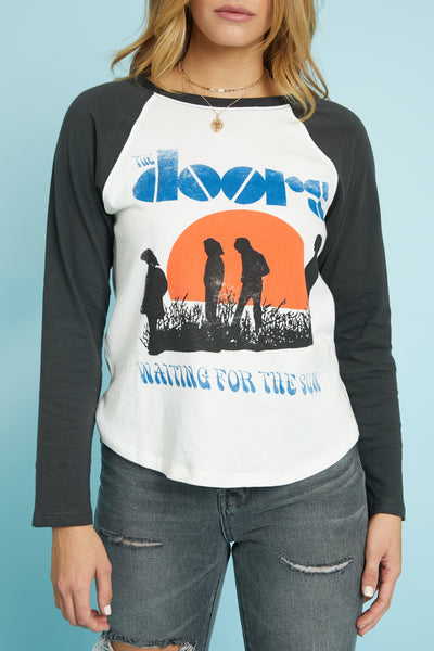 The Doors Waiting For The Sun Raglan by Daydreamer - FINAL SALE