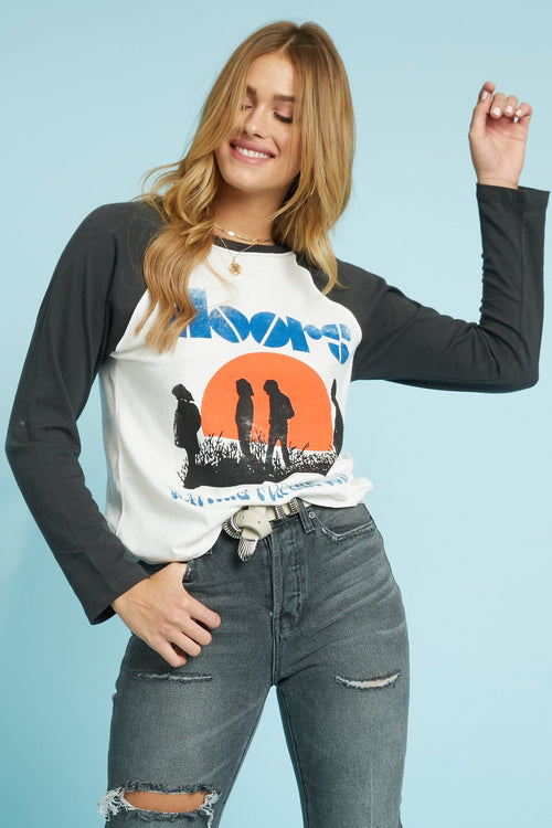 The Doors Waiting For The Sun Raglan by Daydreamer