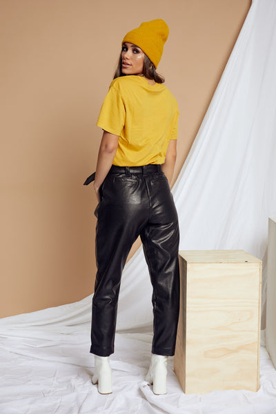 Electric Feel Leather Pant