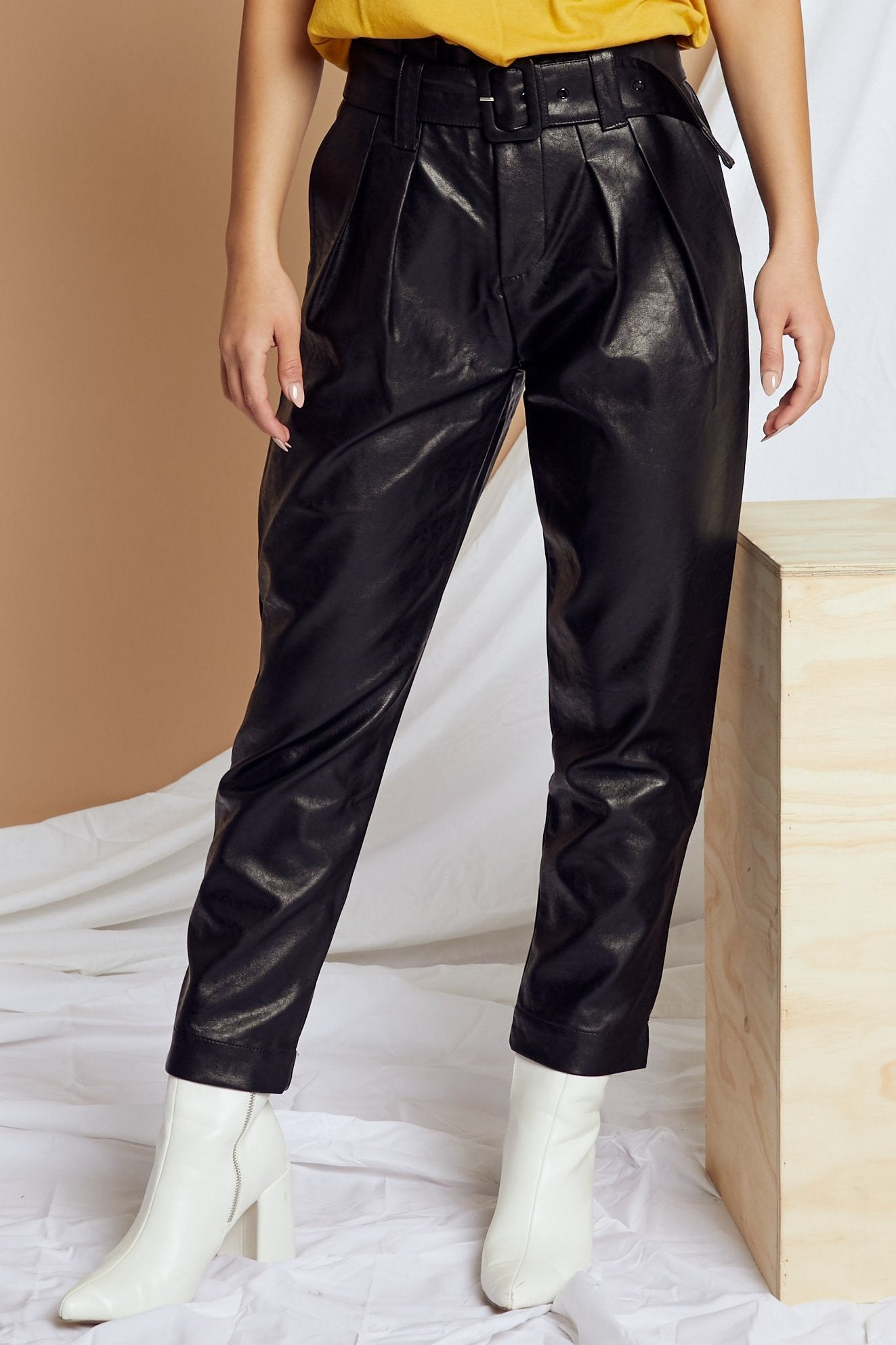 Electric Feel Leather Pant - FINAL SALE