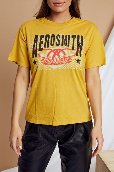 Aerosmith Double Logo Boyfriend Tee by Daydreamer