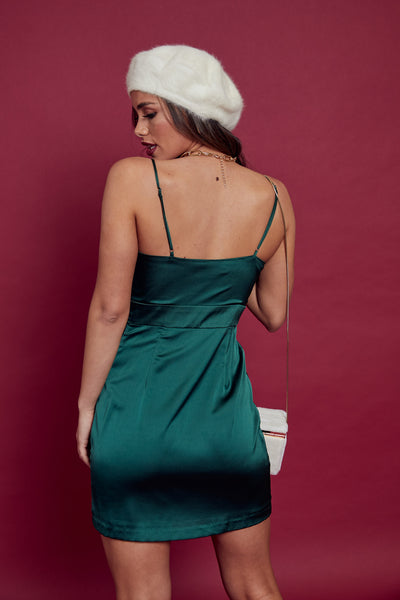 Deck The Halls Satin Dress - FINAL SALE