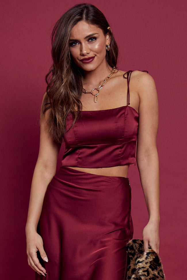 Starlet Satin Crop Top - FINAL SALE