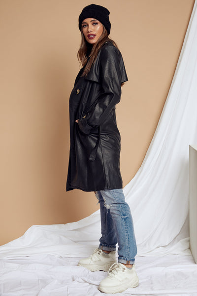 Trinity Leather Trench Coat - FINAL SALE