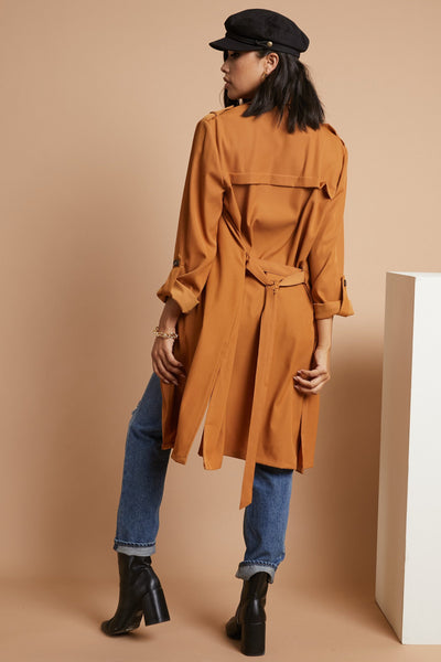 Where's My Latte Trench Coat - FINAL SALE