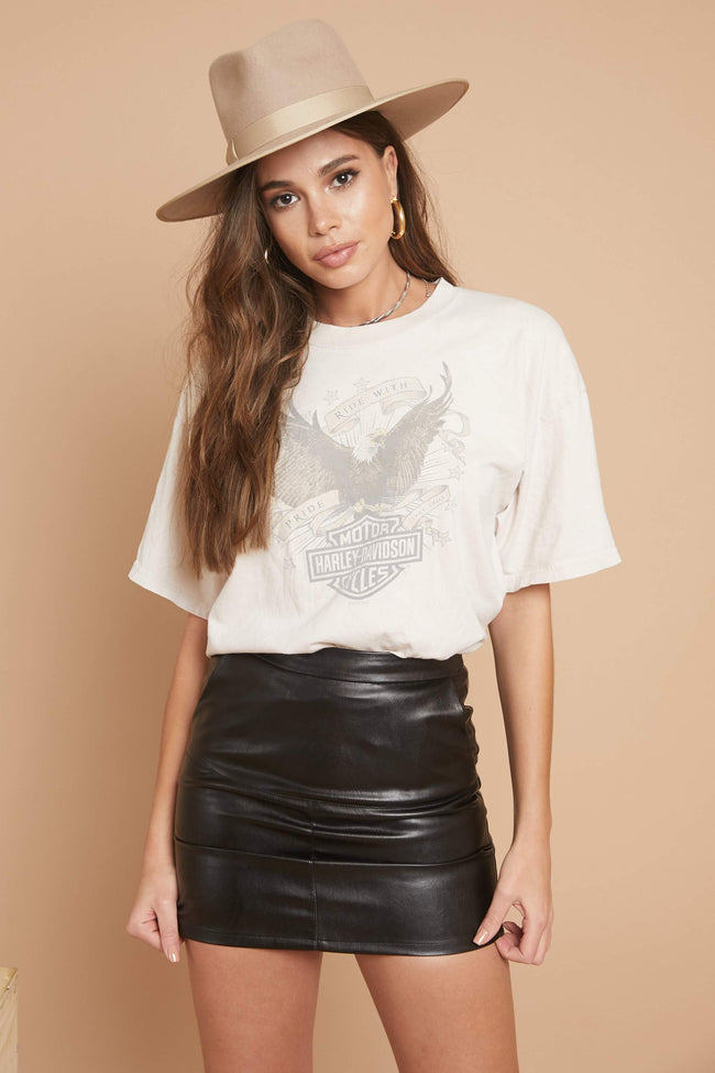 Now Trending Leather Skirt - FINAL SALE