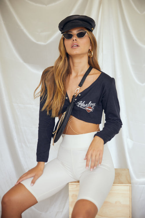 Harley Davidson Crop Top by Luna B Vintage