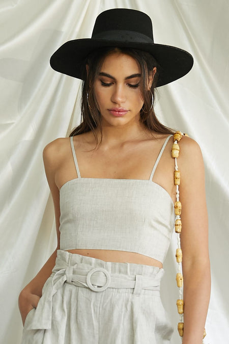 Camelot Crop Top - FINAL SALE