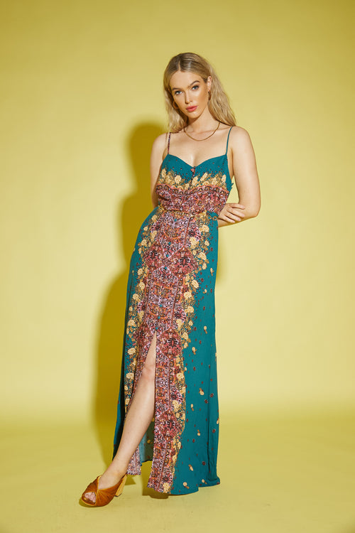 Morning Song Printed Maxi Slip by Free People