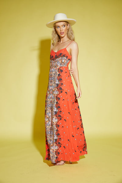 Morning Song Printed Maxi Slip by Free People - FINAL SALE