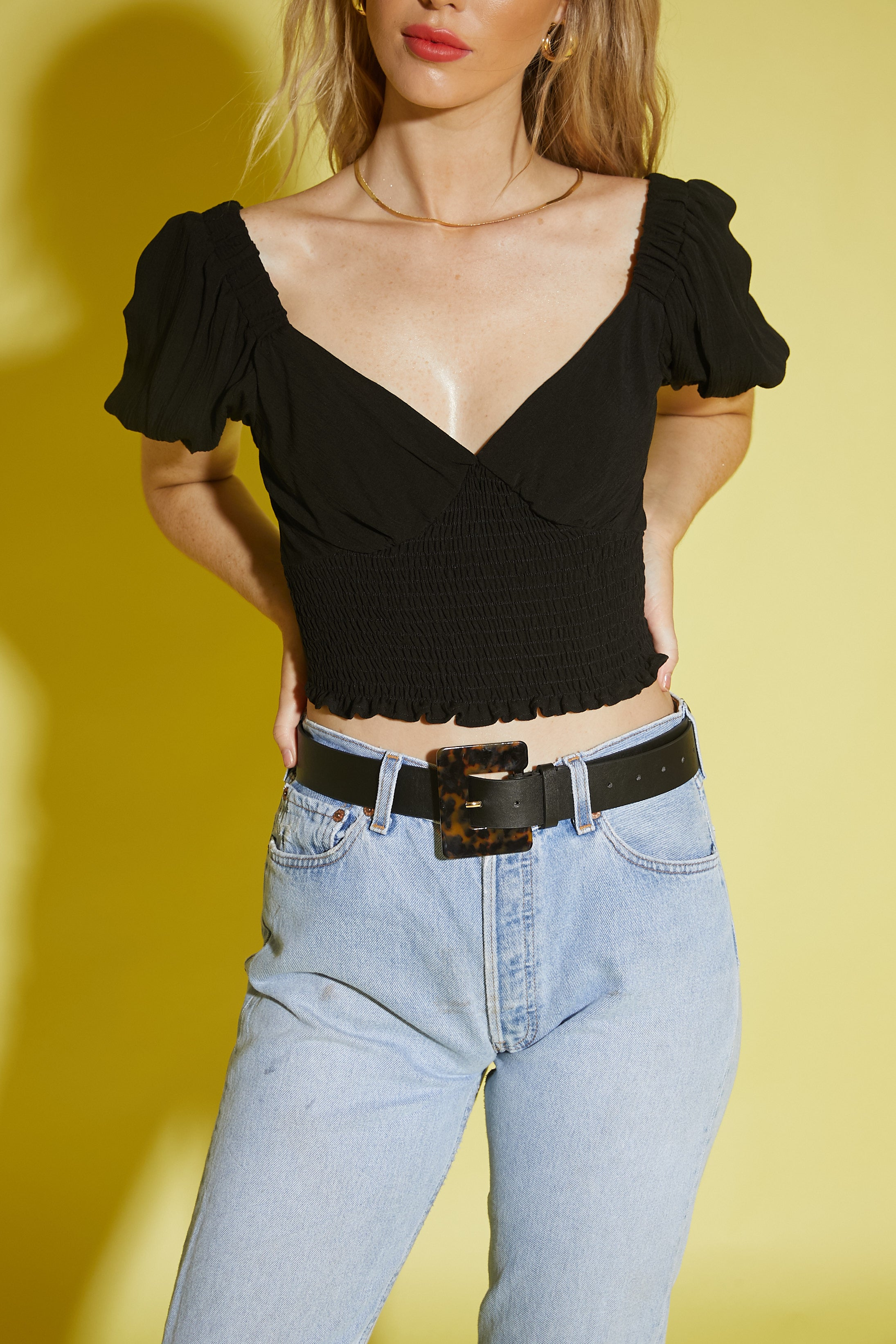 French Made Crop Top