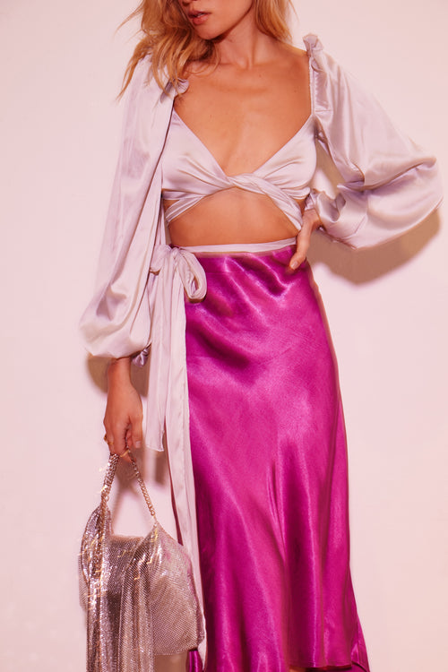 Argent Wrap Blouse by For Love & Lemons