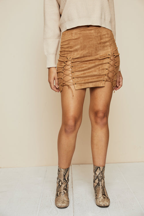 Dreamweaver Suede Skirt - FINAL SALE