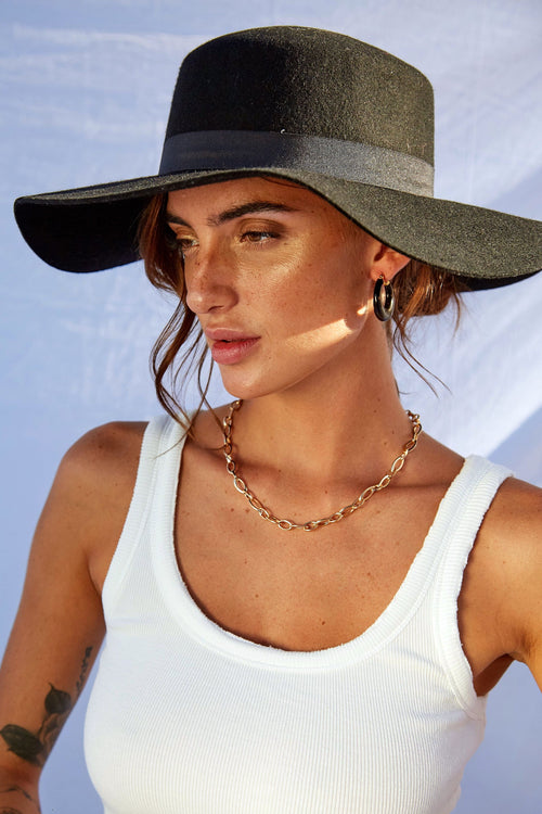 Girl About Town Hat - FINAL SALE