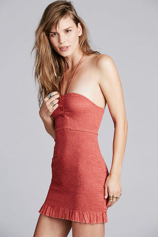 Beach Babe Smocked Slip by Free People - FINAL SALE