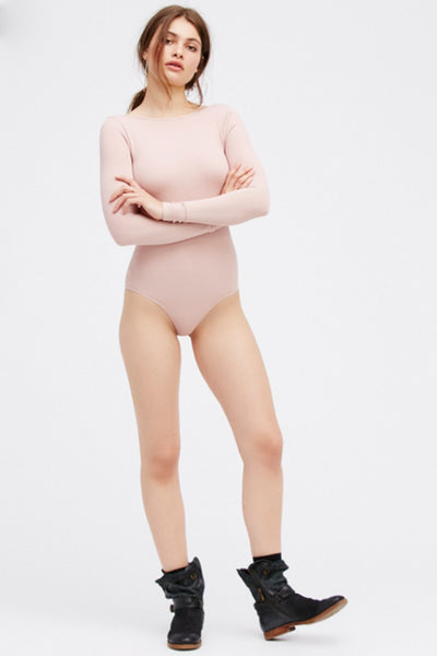 Seamless Low Back Bodysuit by Free People - FINAL SALE