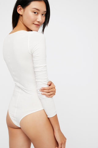 Simply Henley Bodysuit by Free People