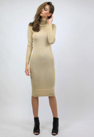 Monaco Turtleneck Dress by Lioness - FINAL SALE