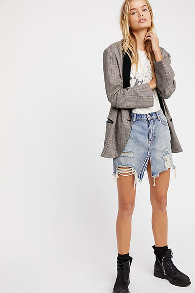 We The Free Relaxed & Destroyed Skirt by Free People - FINAL SALE