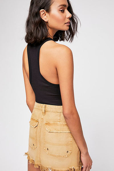 Canvas Relaxed Mini Skirt by Free People= FINAL SALE