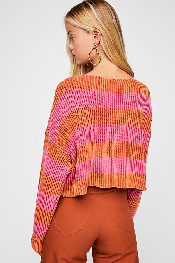 Just My Stripe Pullover Sweater by Free People