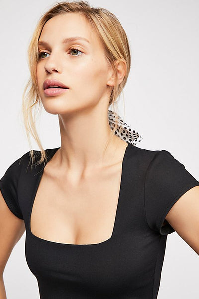 Fair and Square Neck Bodysuit by Free People