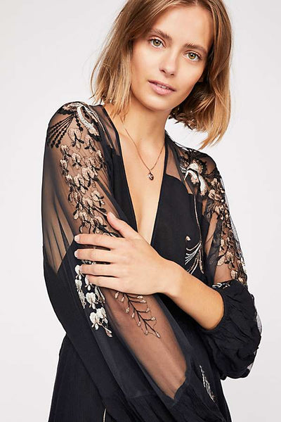 Bonjour Embroidered Mini Dress by Free People