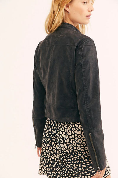 We The Free Fenix Vegan Moto Jacket by Free People - FINAL SALE