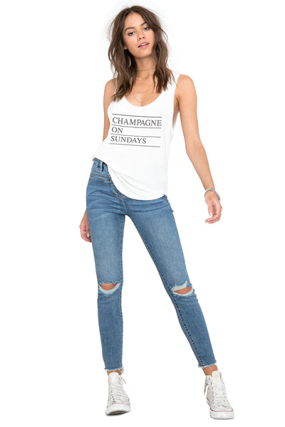 Champagne Love Tank by Amuse Society