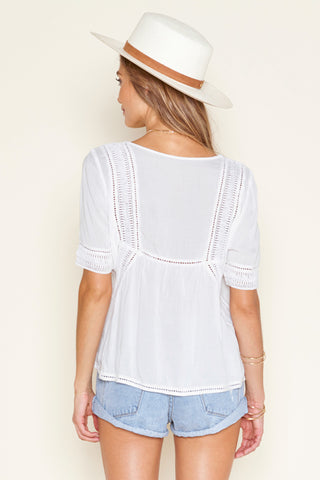 St. Germain Woven Top by Amuse Society