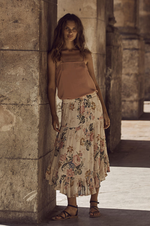 Delilah Frilled Midi Skirt by Auguste The Label - FINAL SALE