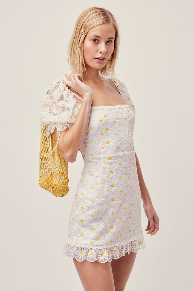 Brulee Daisy Mini Dress by For Love & Lemons - FINAL SALE