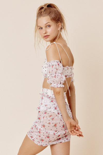 Cindy Ruched Skirt by For Love & Lemons - FINAL SALE