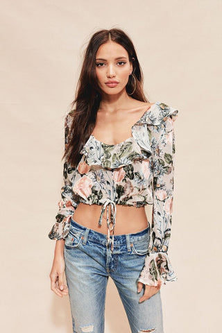 Luciana Ruffle Blouse by For Love & Lemons