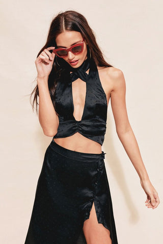 Gabriella Silk Dot Halter by For Love & Lemons