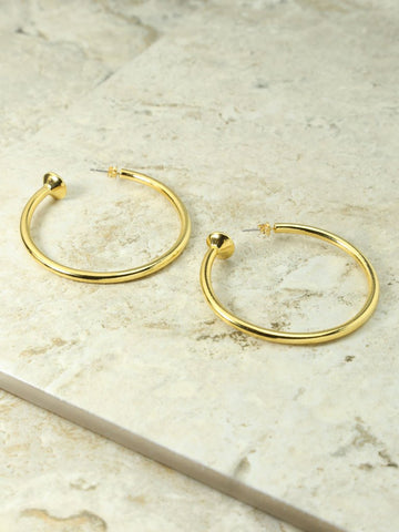 The Gold Large Cecilia Hoops by Vanessa Mooney