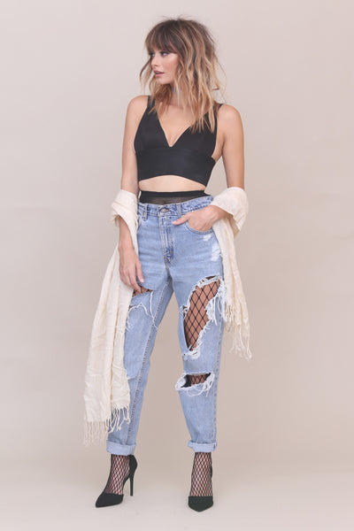 Can't Be Tamed Crop Top - FINAL SALE
