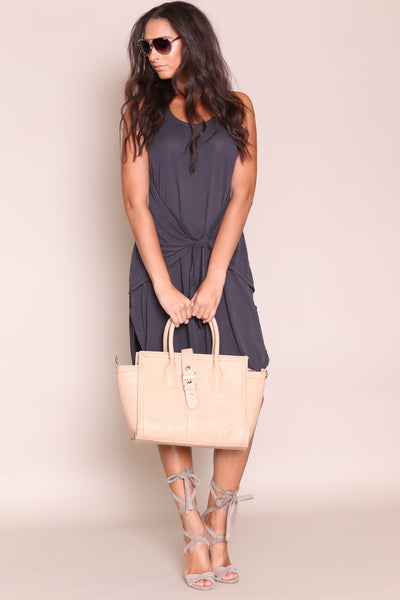 Knot Bad Midi Dress- FINAL SALE
