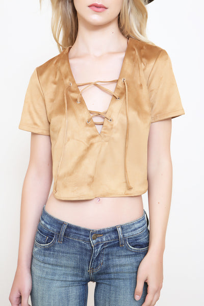 Wild West Suede Crop Top - FINAL SALE