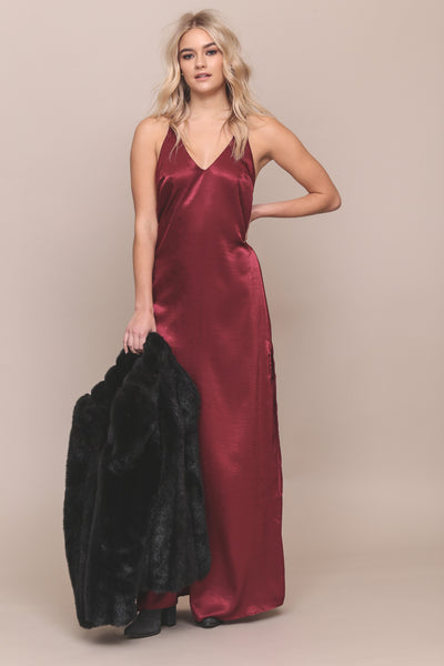 Deja Vu Satin Maxi Dress - FINAL SALE