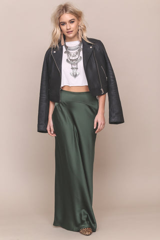 Night Moves Satin Maxi Skirt- FINAL SALE