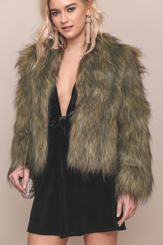 Love On The Brain Fur Coat- FINAL SALE