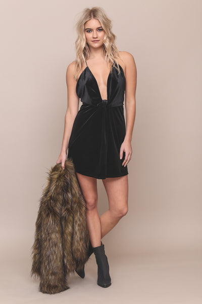 Love Me Knot Velvet Dress - FINAL SALE