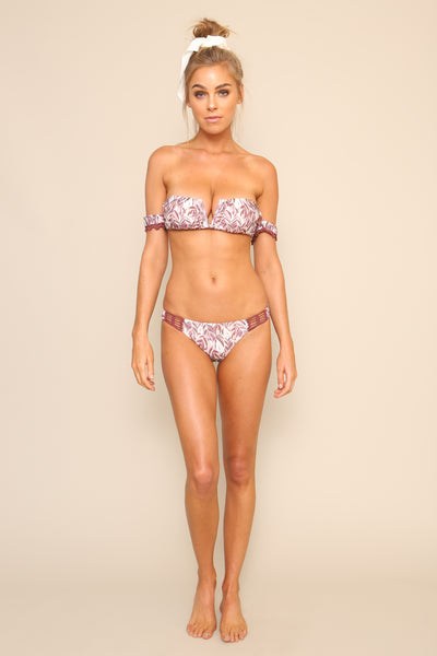 Feather Palm Cheeky Bottoms by Minkpink - FINAL SALE
