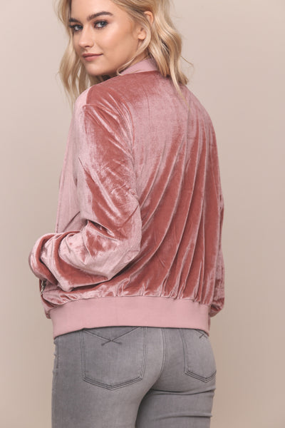Hard Rock Velvet Bomber Jacket - FINAL SALE
