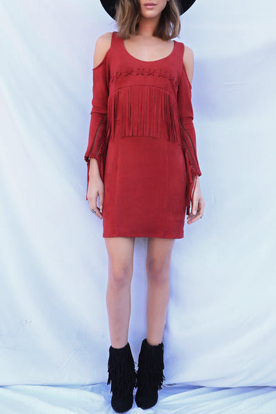 Shake Rattle & Roll Suede Dress - FINAL SALE