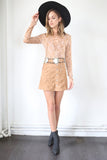 Peace Out Suede Skirt - FINAL SALE