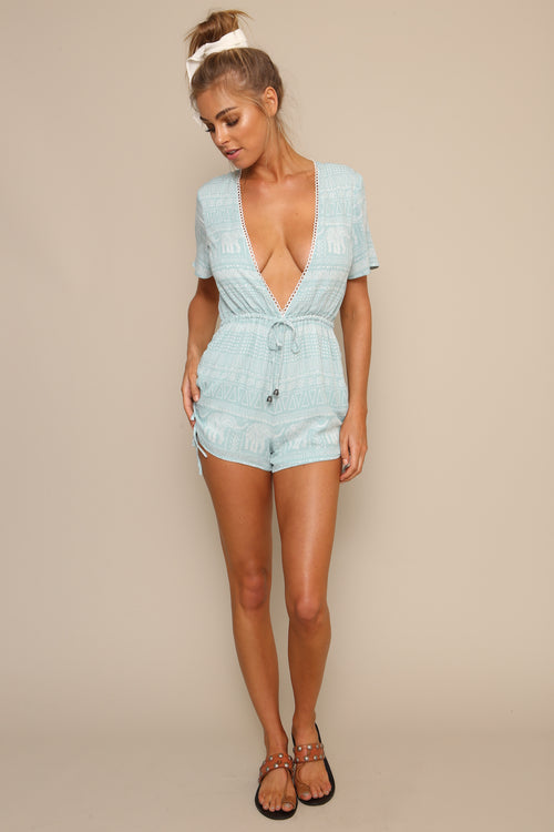 Getaway Drawstring Playsuit by Minkpink - FINAL SALE